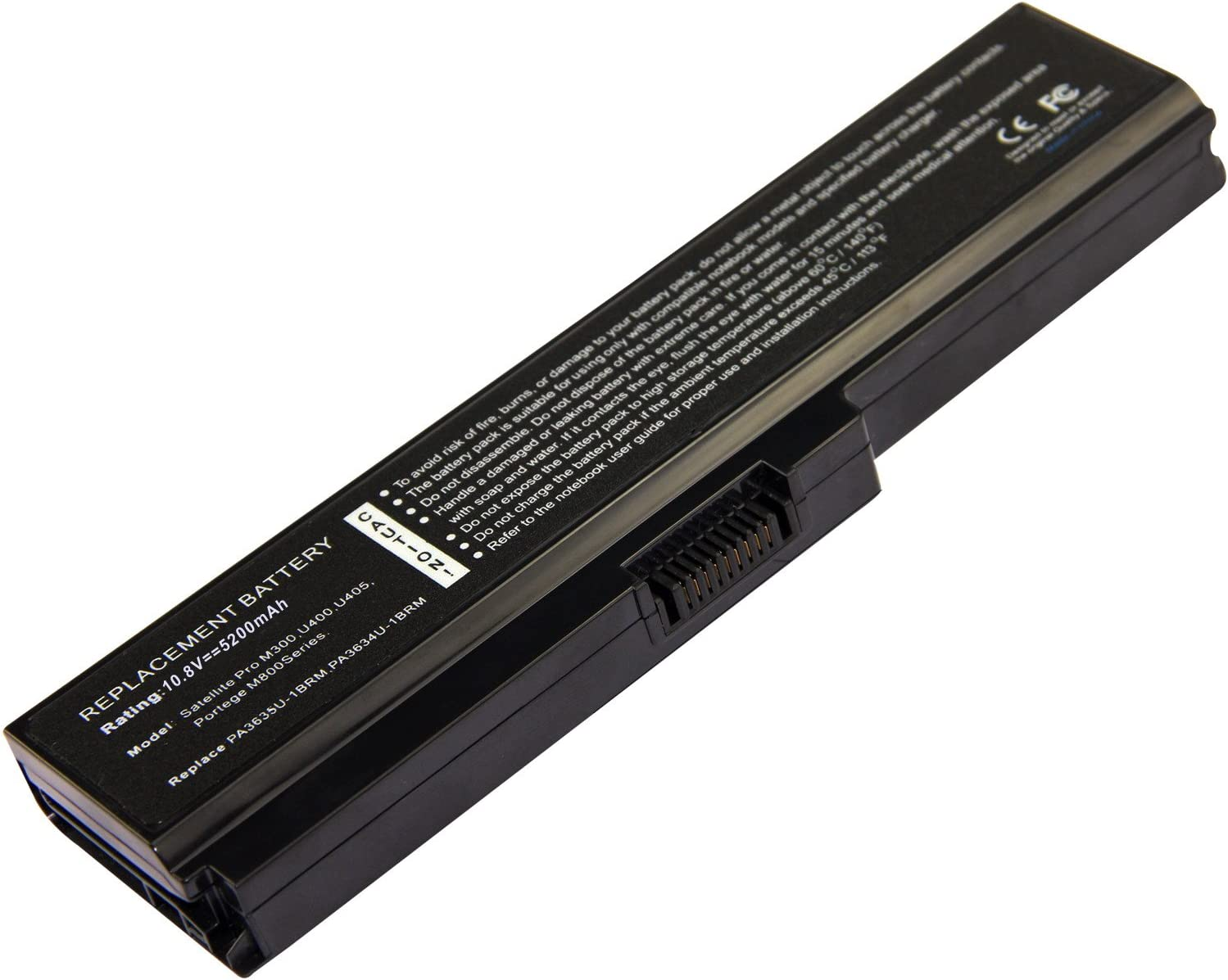 Exxact Parts SolutionNotebook Li-ION Battery for Toshiba PA3634U-1BAS PA3634U-1BRS PA3635U-1BAM PA3635U-1BRM PA3636U-1BRL PA3638U-1BAP PA3728U-1BRS PABAS116 PABAS117 PABAS178 PABAS228 PABAS230