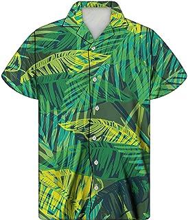 Men Zebra Tiger 3D Hawaiian Shirt Short Sleeve Slim Fit Shirt Casual Clothing Summer Shirt