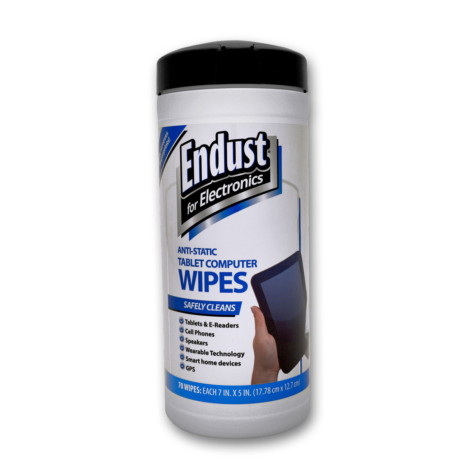 Endust for Electronics, Touchscreen cleaning wipes, Great tablet wipes, 70 count (12596)