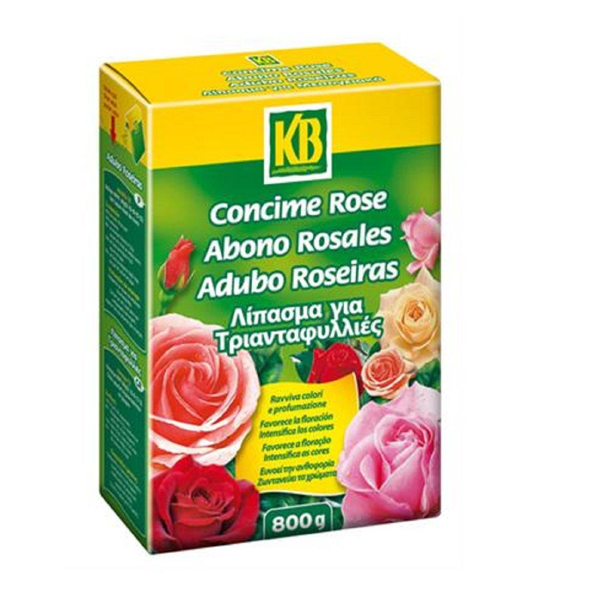 CONCIME GRANULARE 800GR ROSE KB 6377 PER ROSE CESPUGLI FIORITI E ROSACEE ITAL-AGRO