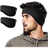 WMINHUI Fleece Ear Warmers/Muffs Headband for Men & Women & Kids Perfect for Cycling Skiing Workout Yoga Running & Riding Motorcycle in Winter - Stay Warm & Performance Stretch