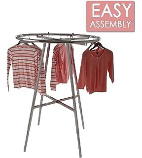 Amazon.com: Cesta redonda de Garment rack Shelf: Industrial ...