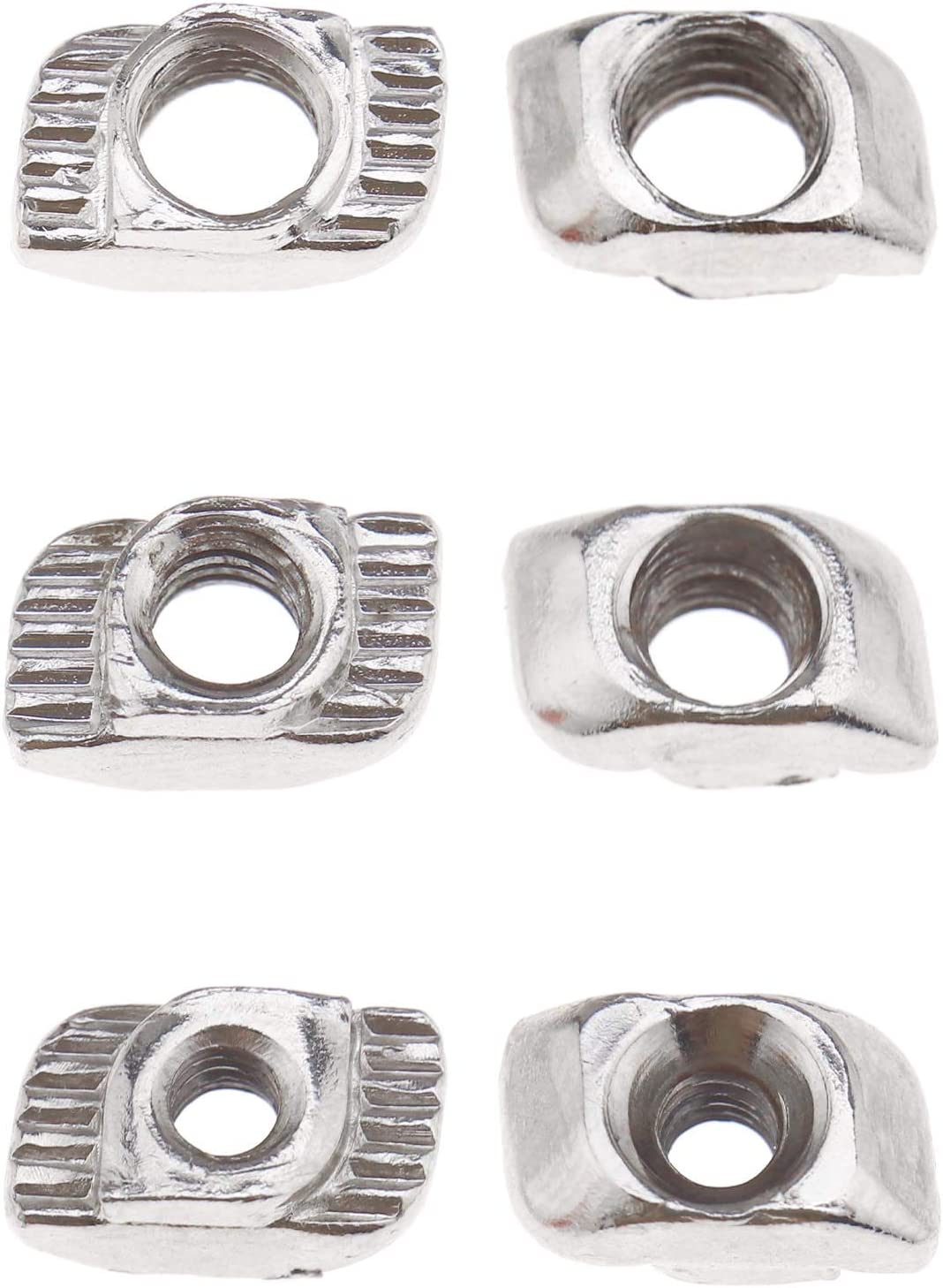 Creative-Idea 180Pcs 2020 Series M3 M4 M5 T Slot Nut Nickel Plated Carbon Steel with 4 Matching Wrenches