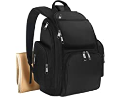 Backpack Diaper Bag, Waterproof Boy Travel Bag for Dad and Men, Large Multi-Function, Many Pockets, Lightweight, Stylish Diap