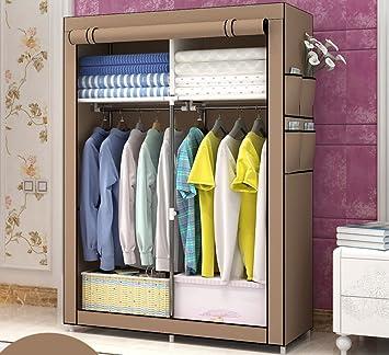 N&B Ropa Armario guardarropa Portable Organizador del almacenaje con estantes Multicapa sturady Durable construcción stroage gabinete
