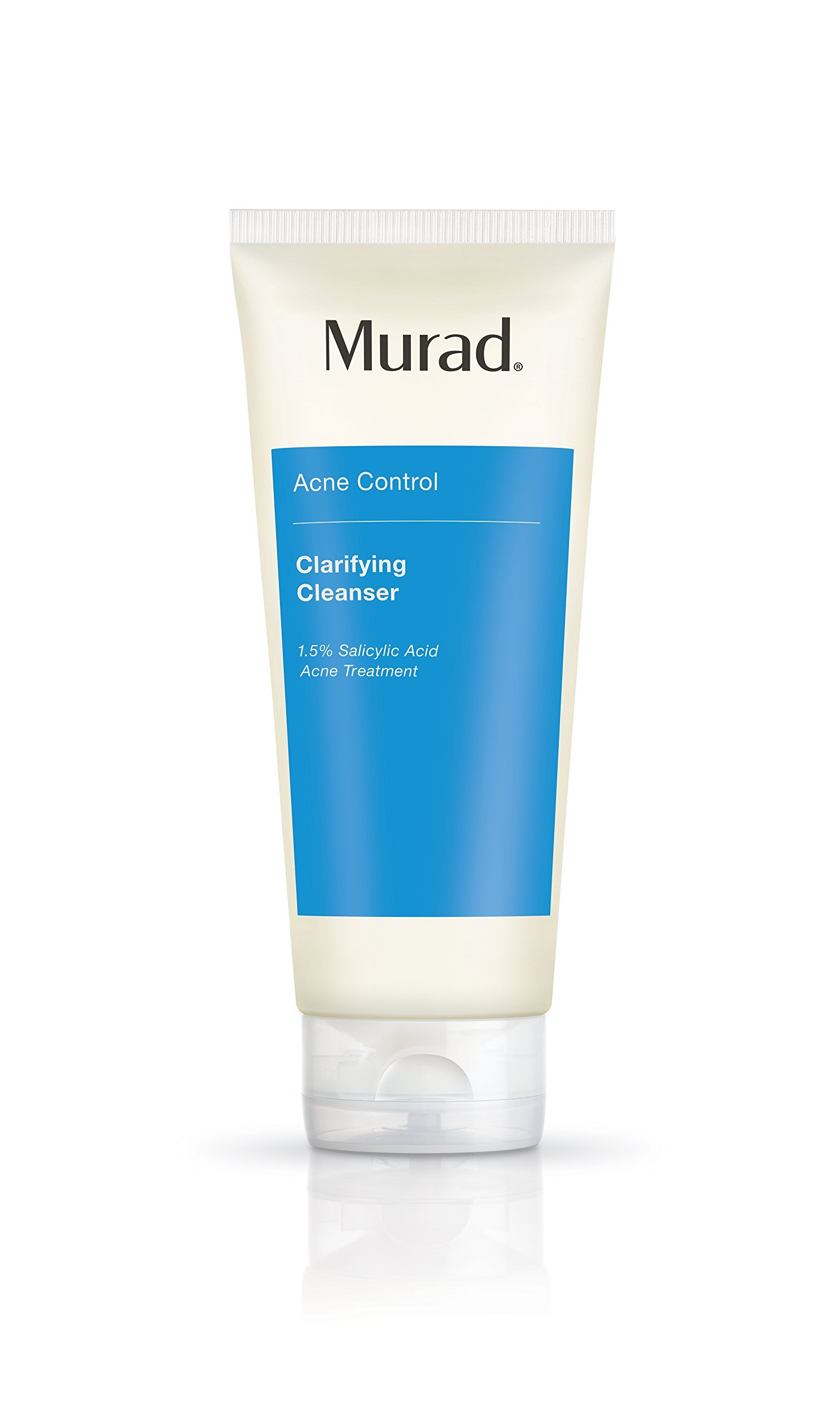Murad Acne Clarifying Cleanser - Step 1 Cleanse/Tone (6.75 fl oz), Powerful Daily Gel Facial Cleanser that Helps Reduce Blemishes and Future Breakouts with Green Tea Extract and 1.5% Salicylic Acid