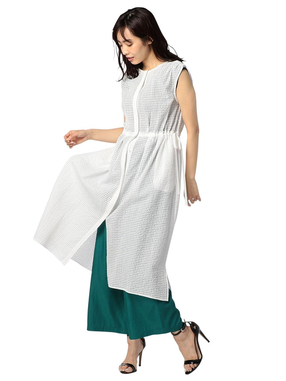 (ノーリーズ) NOLLEY'S シアーギンガム2wayロングシャツ[CanCam掲載] 8-0035-3-01-005 B07CVTMZDZ  ホワイト 38