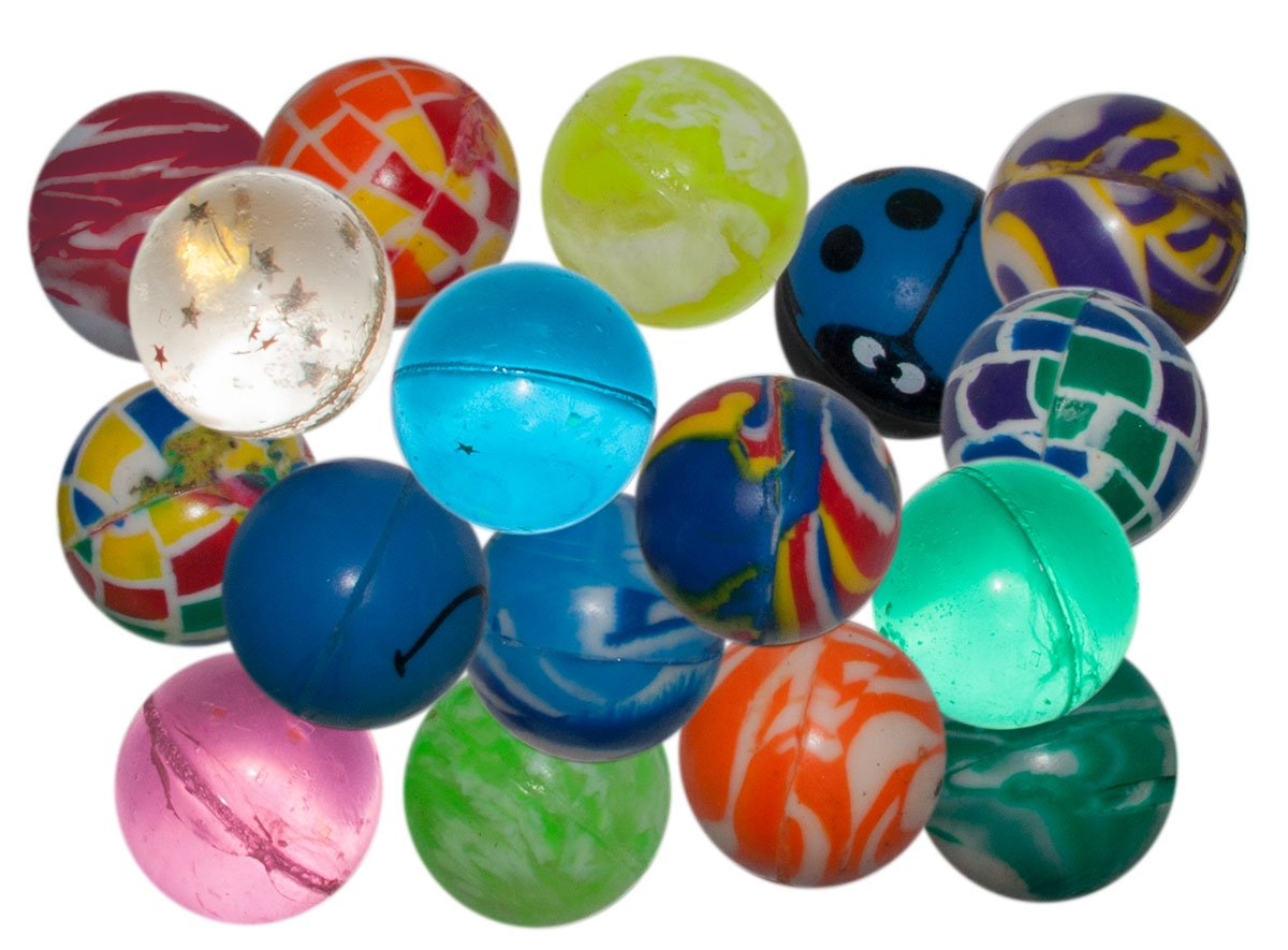 100 x Flummis Flummi Springball 32 mm Hüpfball Bouncing Ball Mitgebsel Tombola Diverse