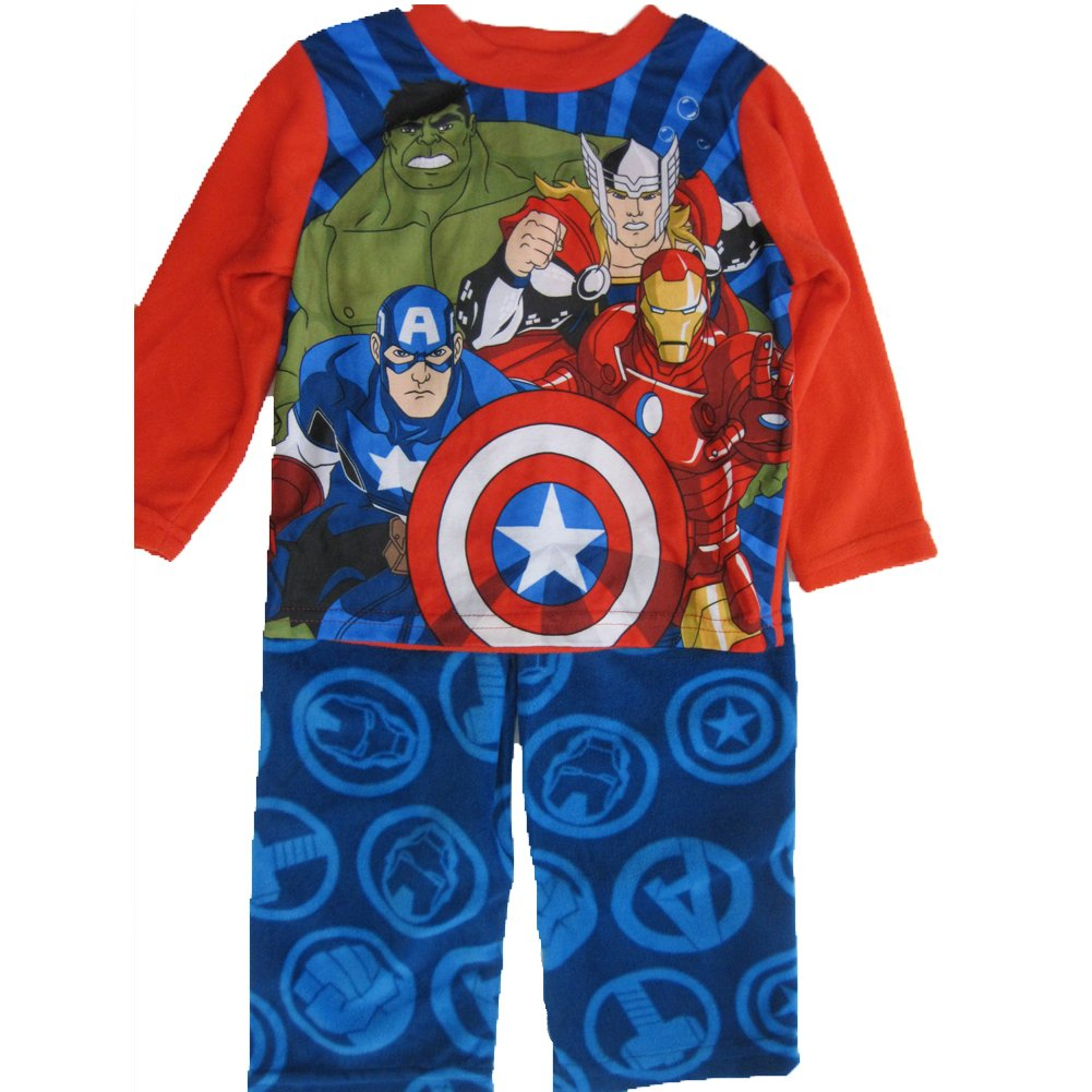 Marvel Big Boys Royal Blue Avengers Superheroes 2 Pc Pajama Set 8-10