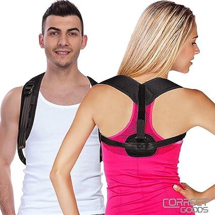Posture Brace Adjustable Back Straightener Discreet Brace Upper Back Pain Relief