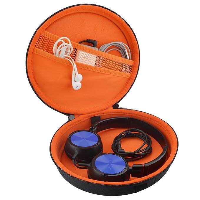 Geekria Ultrashell auriculares funda para Sony MDR-ZX100, MDR-ZX110, mdr-zx300s, mdr-zx310ap, MDR-10RBT, MDR-NC6, Beats Solo HD/auriculares duro ...