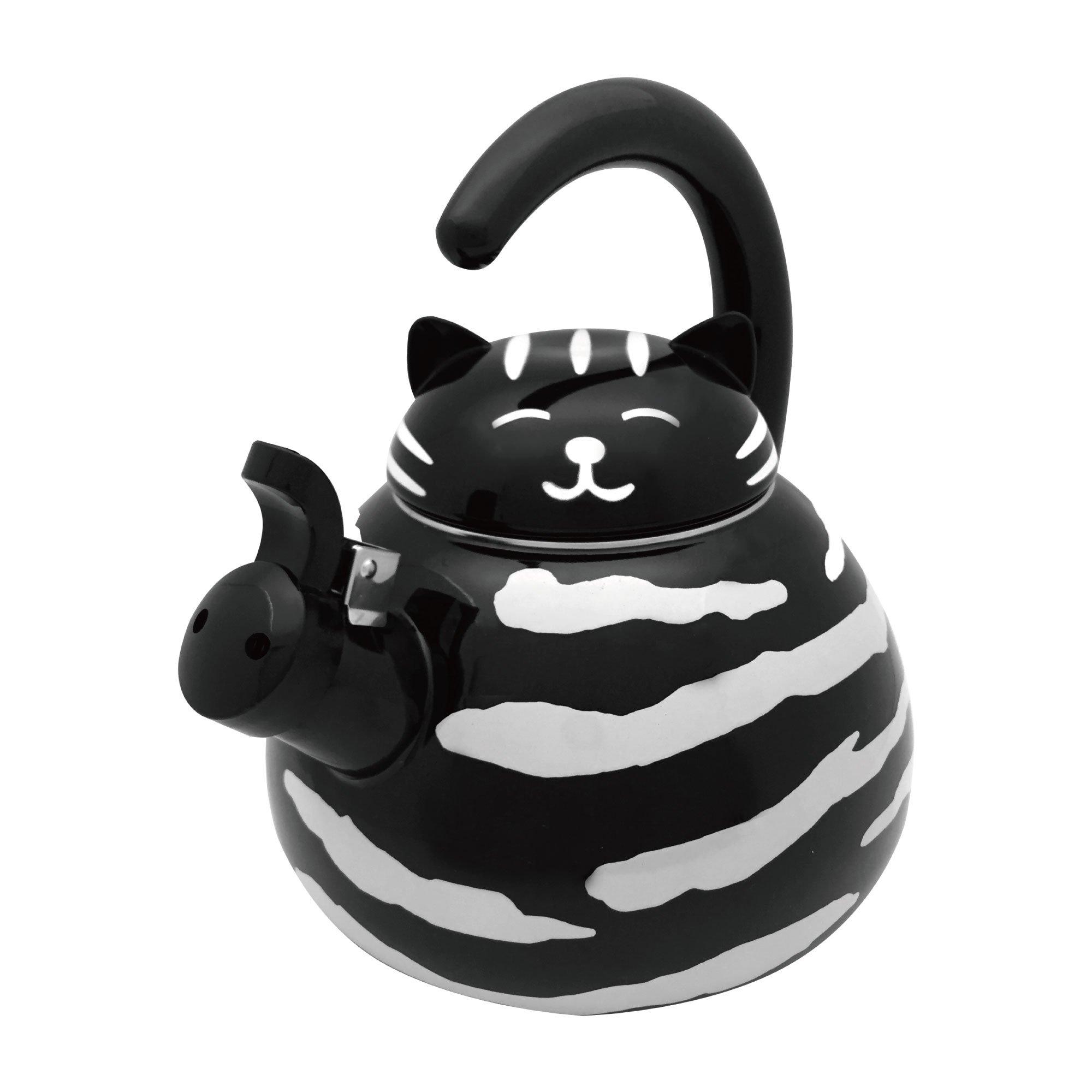 Supreme Housewares Gourmet Art Black Cat Enamel-on-Steel Whistling Kettle by Supreme Housewares (Image #3)