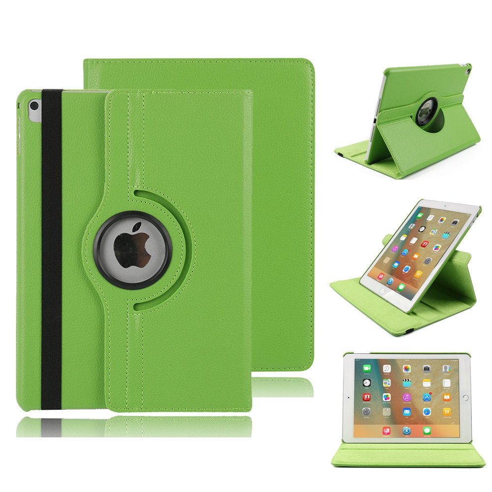Folio Case for iPad Pro 12.9'',360 Degree Rotating Stand Cover Magnetic Pu Leather Protective Cover with Auto Sleep/Wake Flip Soft Back Shell Book Cover for iPad Pro 12.9 Inch (2018 Release) - Green
