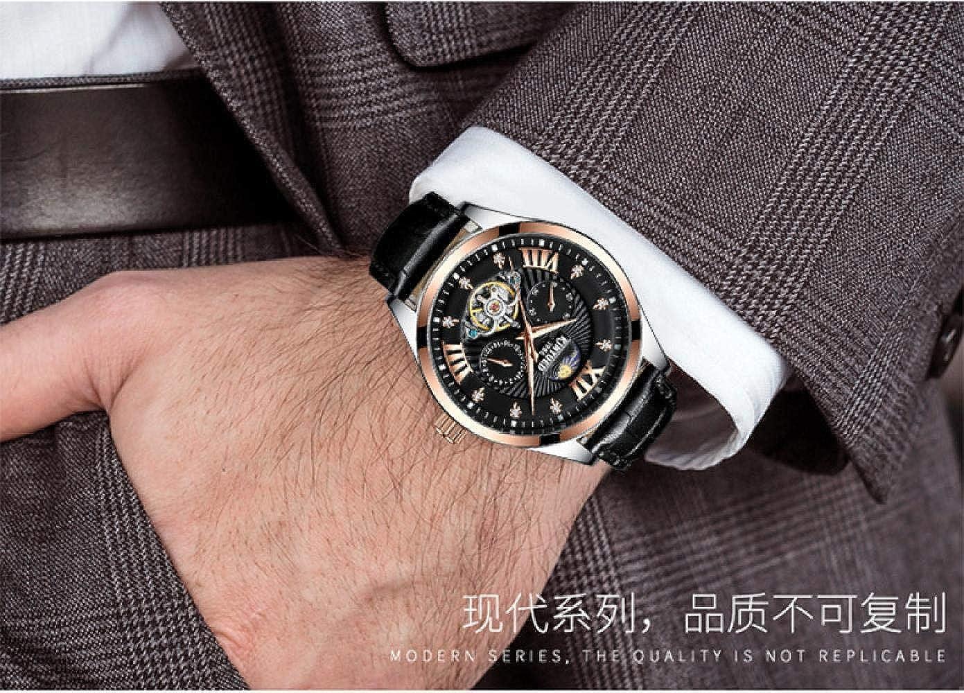 Montres Bracelet,Montre Homme d'affaires Mécanique Automatique Between Rose Shell Black With Black Face