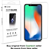 Czar Duraglass High Drop Protection - Smoothest Tempered Glass With Anti Fingerprint Coating For For Iphone X (0.33 mm)