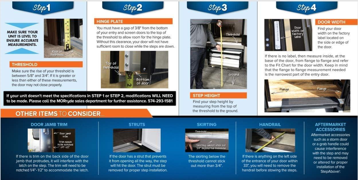 Mor//Ryde International STP-4-32-04H Fold 4 Step 32 Door