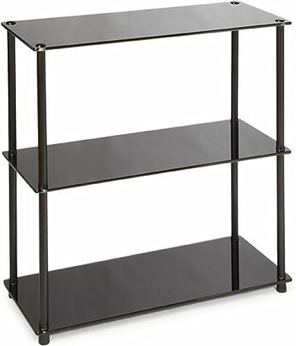 Best modern bookcase: Convenience Concepts Designs2Go Midnight Classic 3-Shelf Glass Bookcase