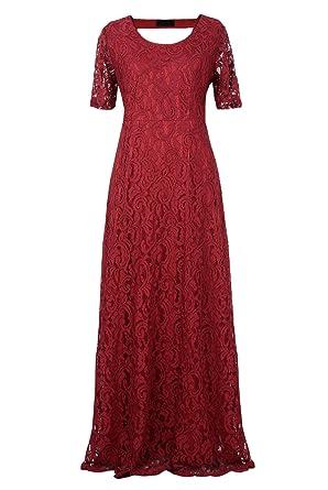 d14e627a2cd Nemidor Women s Full Lace Plus Size Wedding Maxi Dress at Amazon ...