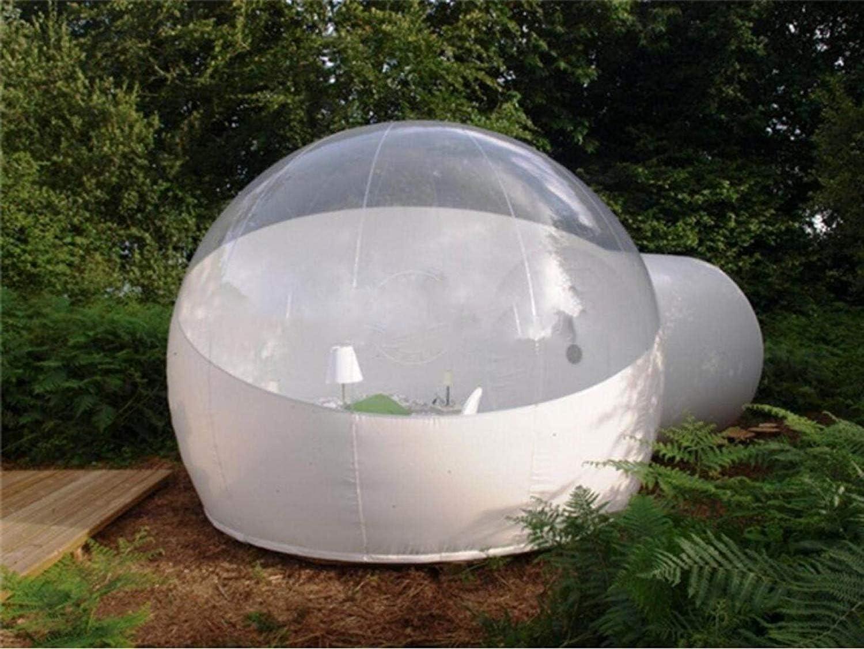 Tienda inflable transparente, Anti-privacidad paso Una sola capa De La Bóveda Del Aire Transparente Del Garden Igloo Patio Trasero Que Acampa De La Familia Jardín (personalizable),3MDiameter+2MTunnel: Amazon.es: Hogar
