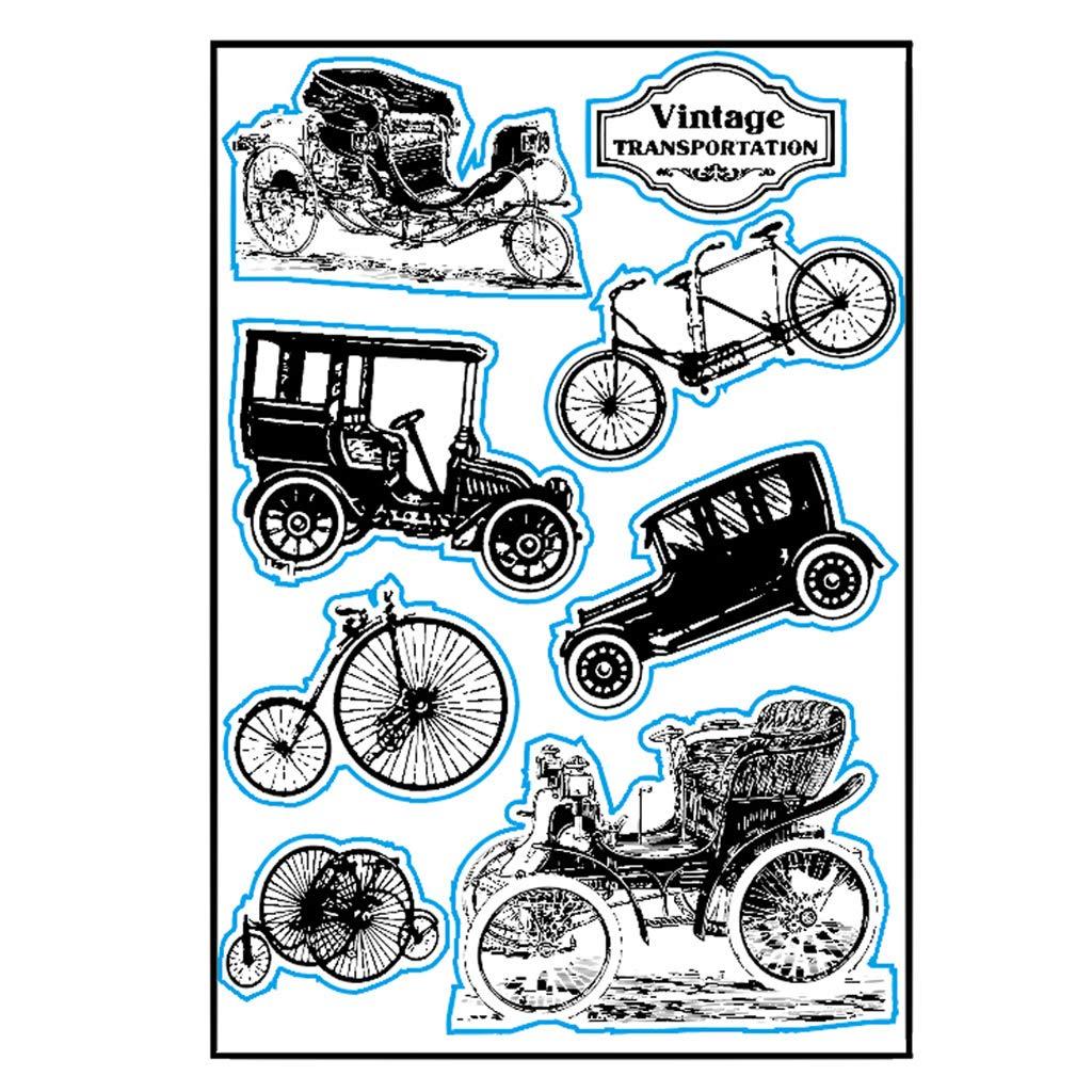 ShapeW Vintage Transportation Silicone Clear Stamp Scrapbook Album Home Decor Gift Card Kid Adult DIY