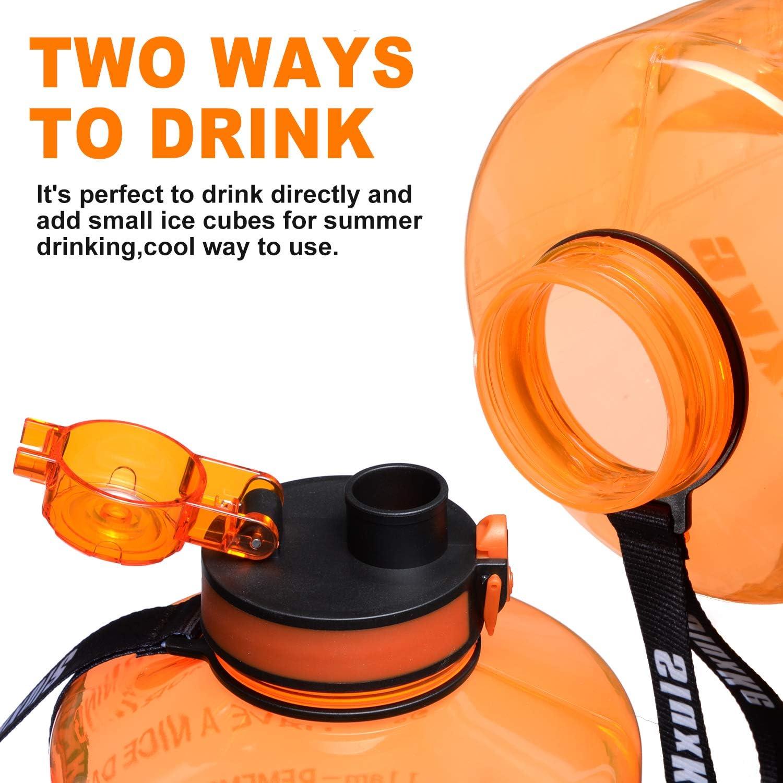 SLUXKE Large Handle Lid for 128 Ounce Tritan Water Bottle BPA Free