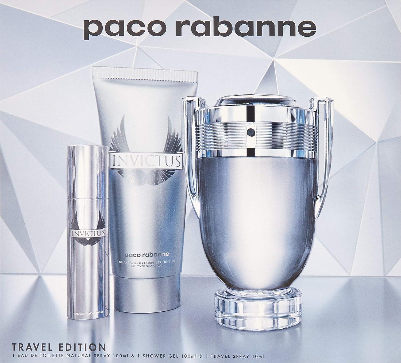Paco Rabanne Invictus Eau De Toilette Vaporisateur 100ml Coffret 3