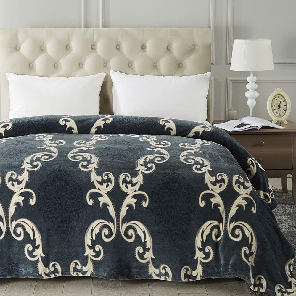 Jml Luxury Flannel Fleece Blanket - Printed Warm Fuzzy Ultra Plush Lightweight Couch Bed Blanket All Season Queen Size by Jml