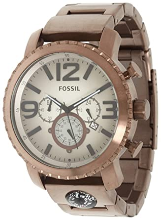 Fossil JR1302 Gage Plated Stainless Steel Brown Watch