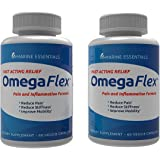 Omega Flex: Reduce Pain, Inflammation, Lubricate Joints, Help Increase Blood Flow, Lessen Stiffness in 7 Days (2 Bottles)