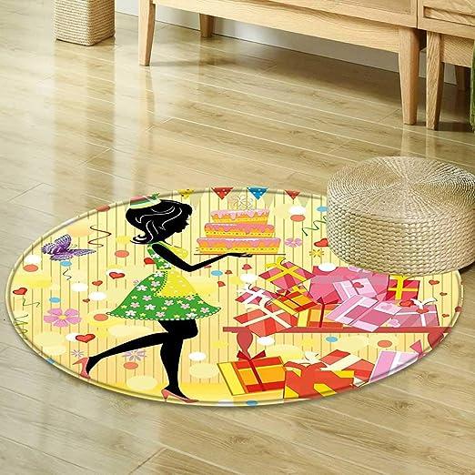 Mikihome - Alfombra Redonda para niños, decoración de ...
