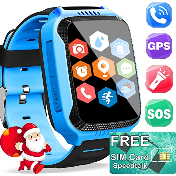 Amazon.com: TURNMEON Kids Smartwatch GPS Tracker with Card ...