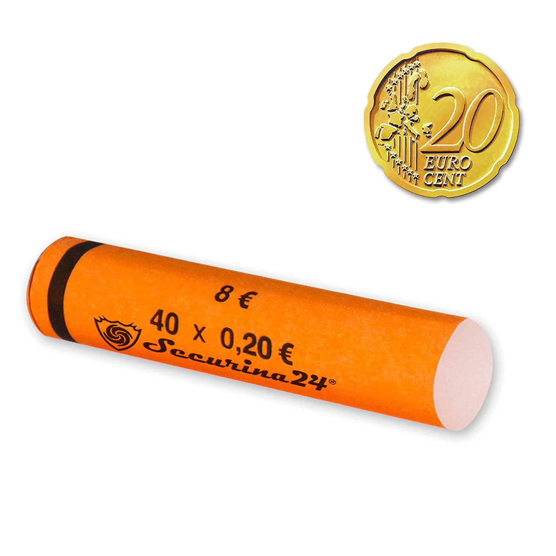 Fundas para monedas desde 1 céntimo hasta 2 euros o 119 unidades mezcladas - Securina24® (Paquete 102 x 1 euros)