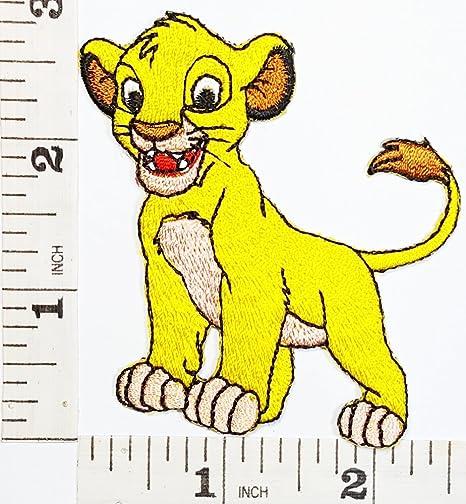 León rey León Simba parche chaqueta camiseta parche coser hierro en bordados disfraz de señal de