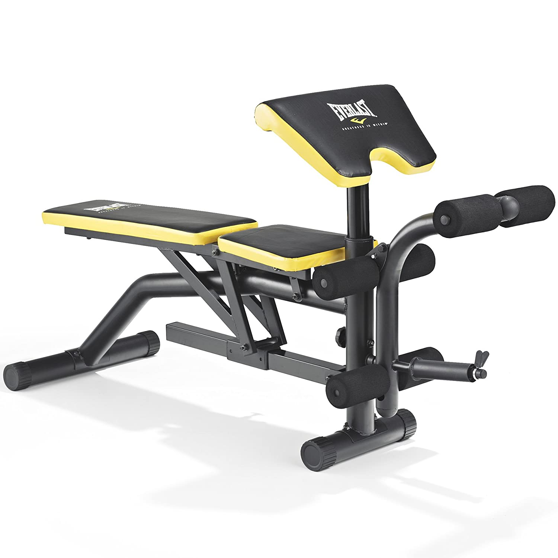 Everlast Ev 340 Weight Bench & Squat Rack  Preacher Pad