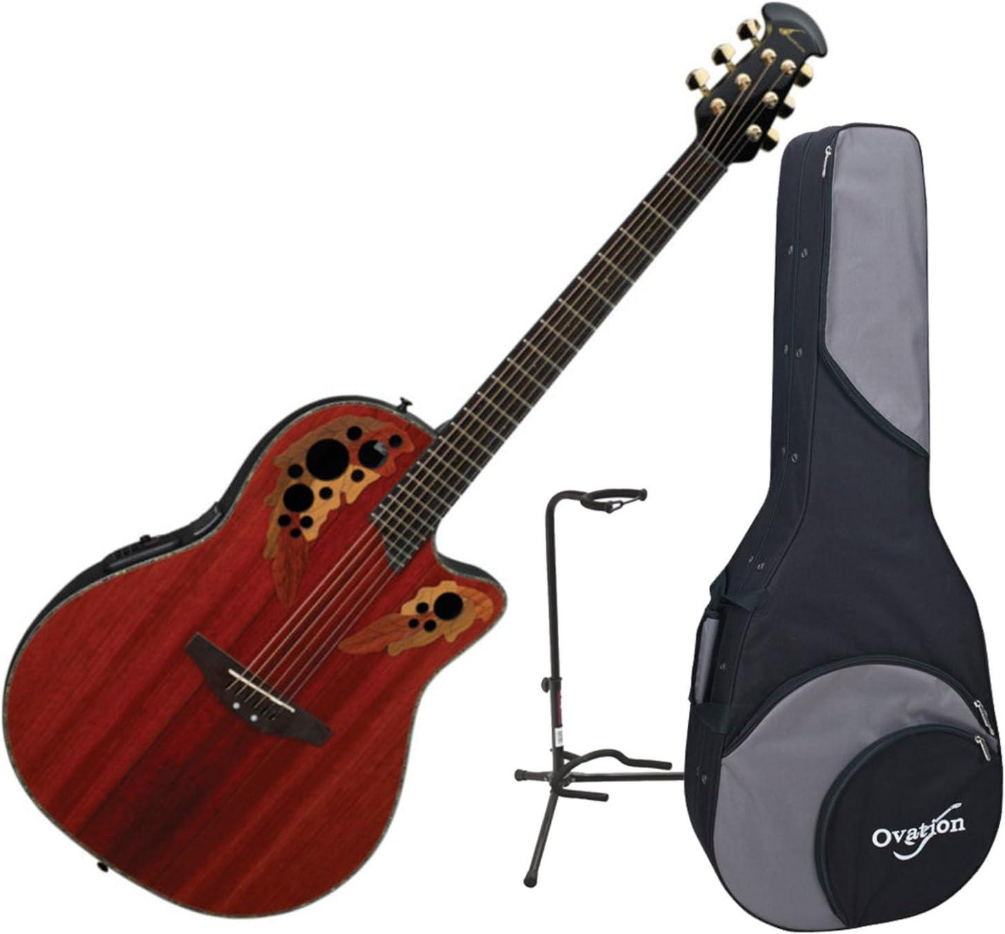 Ovation cc48-pd Celebrity DLX SS Padauk Electroacústica guitarra w ...