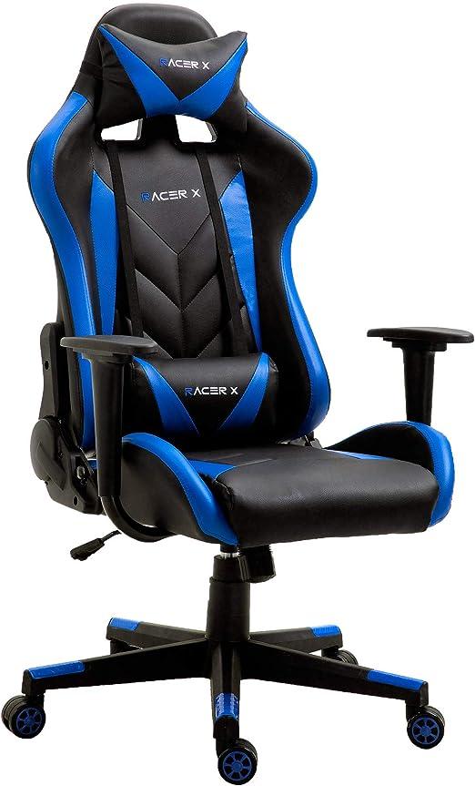 T-LoVendo TLV-RX-Blue Silla Gaming Oficina Racing Sillon Gamer ...