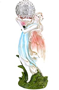 Solar Powered Fairy Angel with Solar Glowing Globe LED Garden Light Decor Color Change