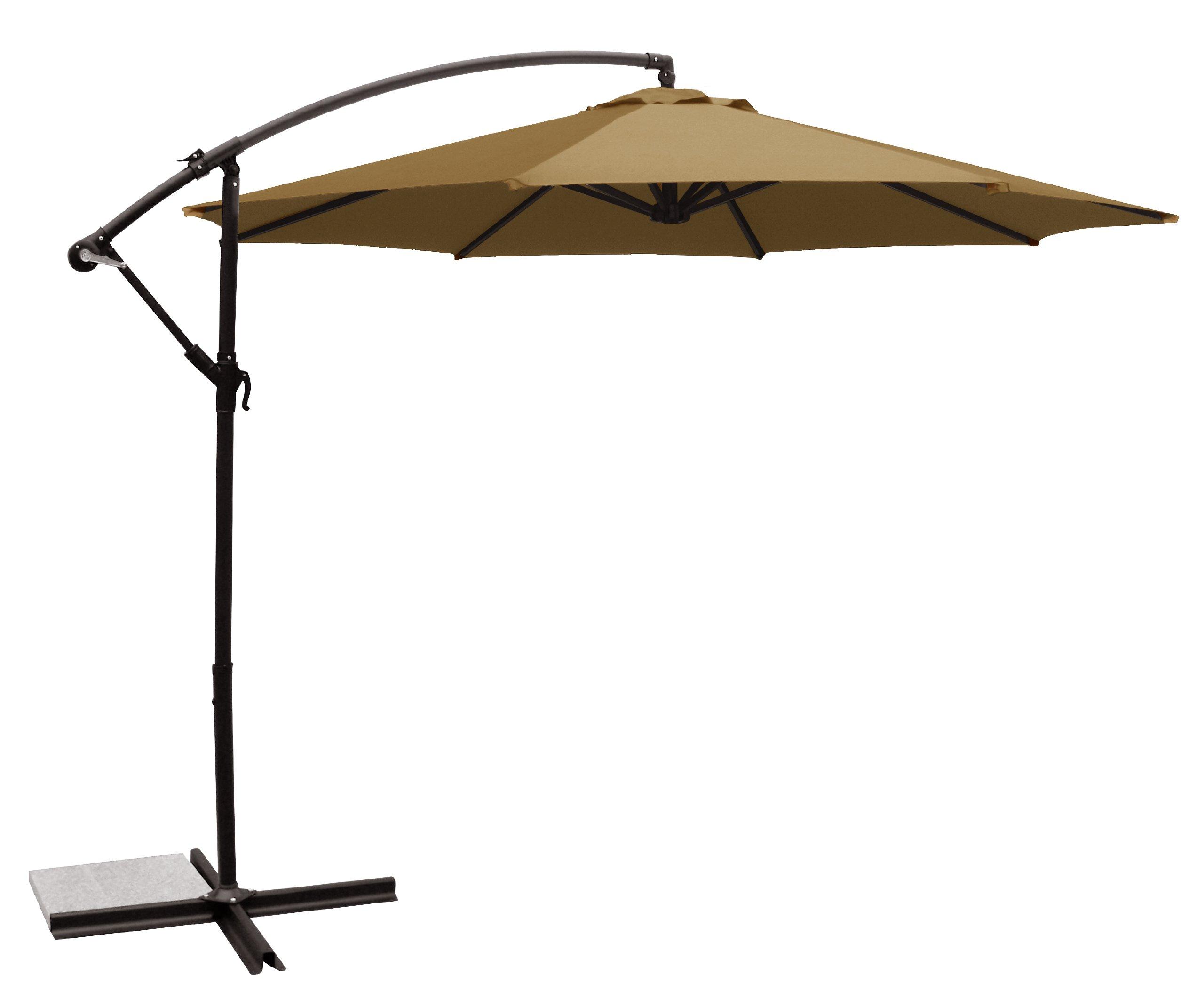 Ace Evert Offset Umbrella 8074, 10 ft, Polyester, Khaki