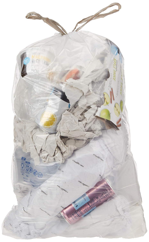 AmazonCommercial 4 Gallon Drawstring Bathroom Trash Bags - 0.7 MIL - 100 Count