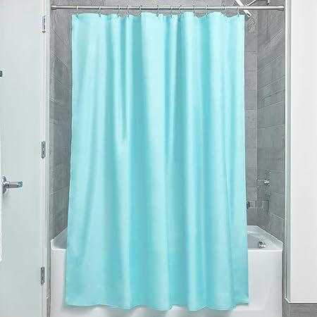 InterDesign rideau de douche tissu imperm/éable 183,0 cm x 183,0 cm rideau douche en polyester rideau textile lavable ourlet renforc/é menthe
