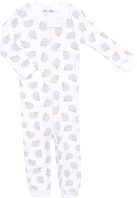 Magnolia Baby Baby Boy Hedgehugs and Kisses Zipped Pajamas Blue