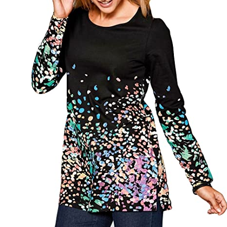 Camisetas De Fiesta Mujer Elegantes Ronamick Moda Mujer Blusa Talla Grande Mujer Tops De Mujer Moda Mujer Camisa Caza (Negro,XXL): Amazon.es: Iluminación