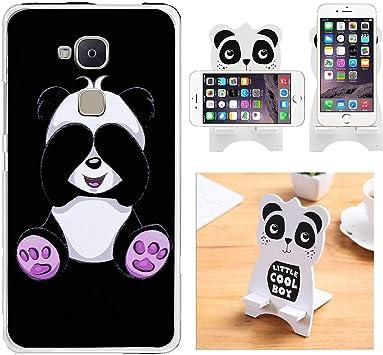 Reshias Funda BQ Aquaris V/Vs, Cárcasa Silicona Transparente Gel TPU Protector Bumper Case Cover para Teléfono Móvil BQ Aquaris V/Vs (Panda) con (1 Pack) Soporte Teléfono: Amazon.es: Electrónica