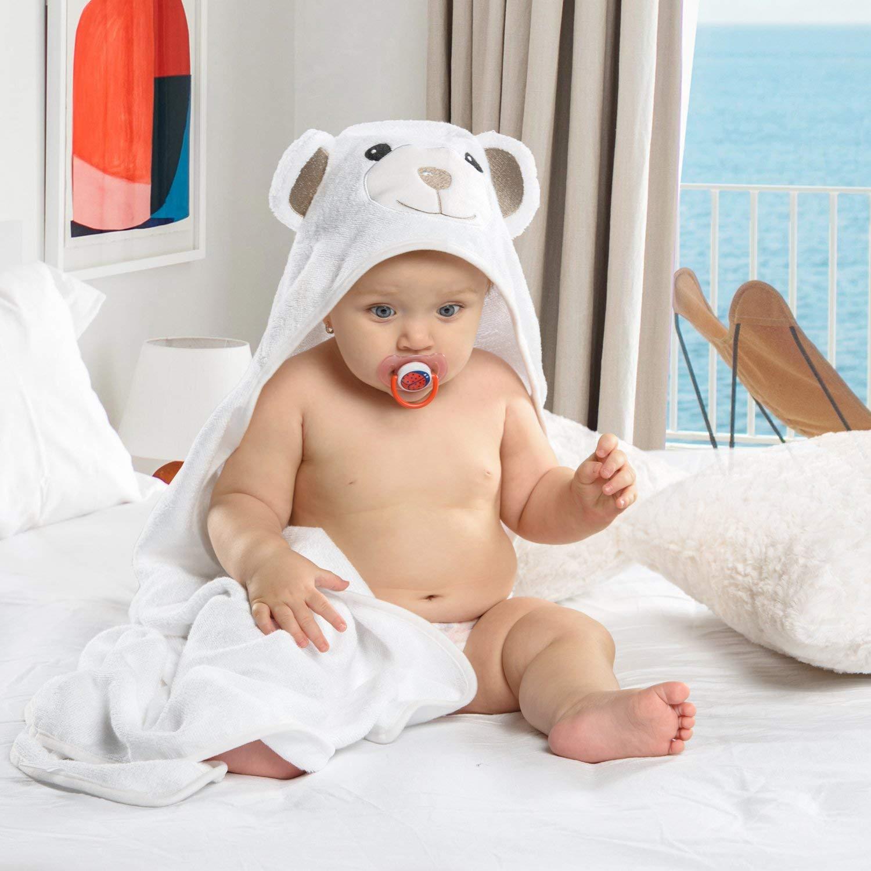 JoJo Asciugamano   Orsetto per Bambini EXTRA SOFFICE   Asciugamano da Bagno 100% in Cotone Naturale   Perfetto per la Doccia E Bagnetto dei Bambini   Per Neonati o Bimbi Piccoli Da 3 Mesi - 2 Anni
