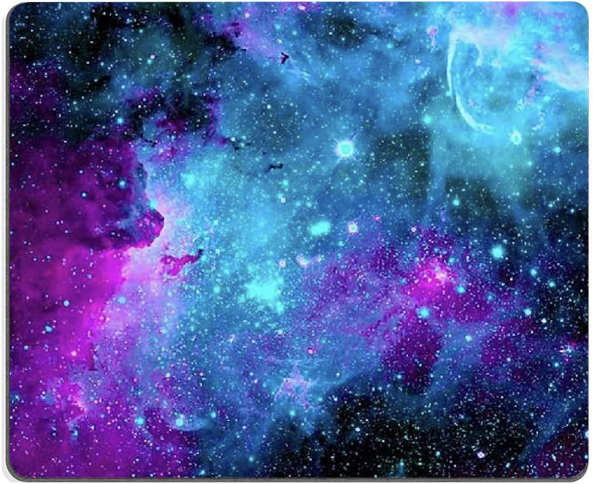 """Gaming Mouse Pad,Blue Purple Galaxy Nebula Universe Space Mouse Pad Non-Slip Rubber Base Mouse Pads for Computers Laptop Office, 9.5""""x7.9""""x0.12"""" Inch(240mm x 200mm x 3mm)"""