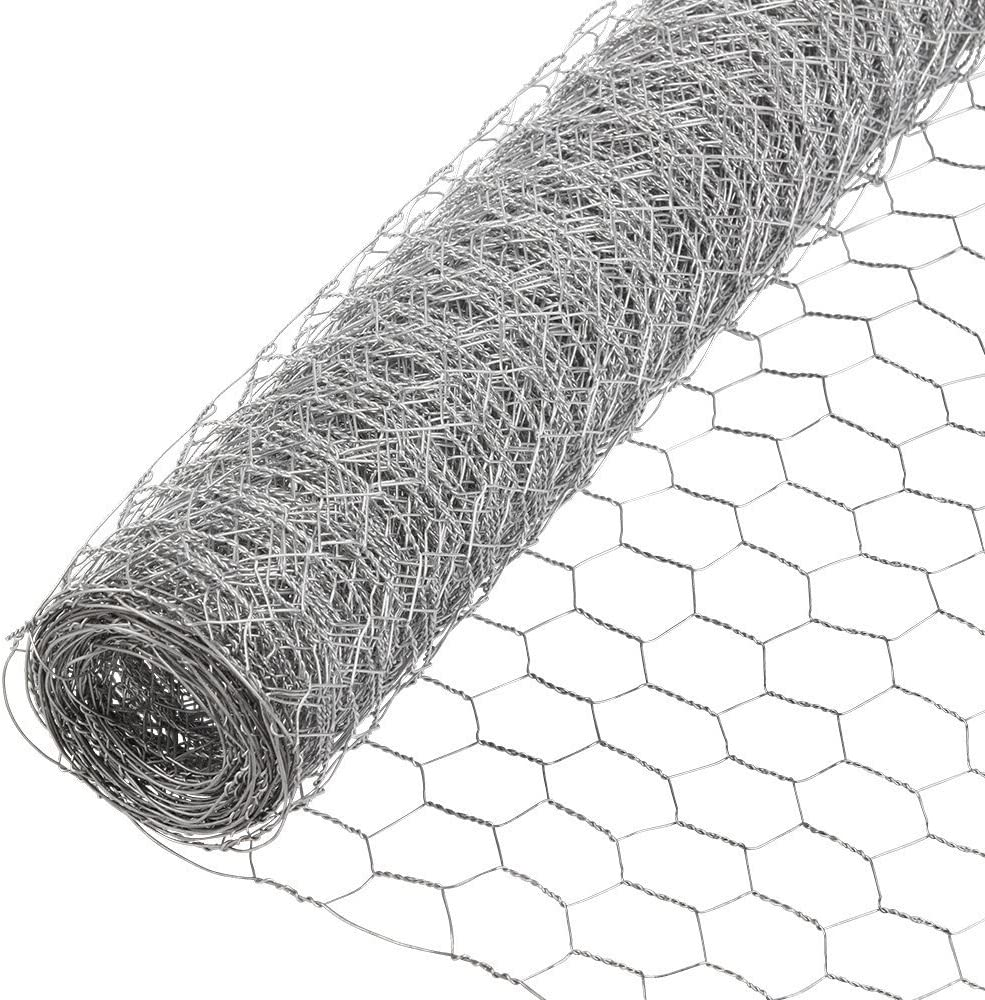Details about  /MTB 20GA Galvanized Hexagonal Poultry Netting Chicken Wire 18 inches x 25 feet x