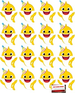 (16 Pack) Baby Shark Birthday Invitations Party Value Bundle (Plus Party Planning Checklist by Mikes Super Store)