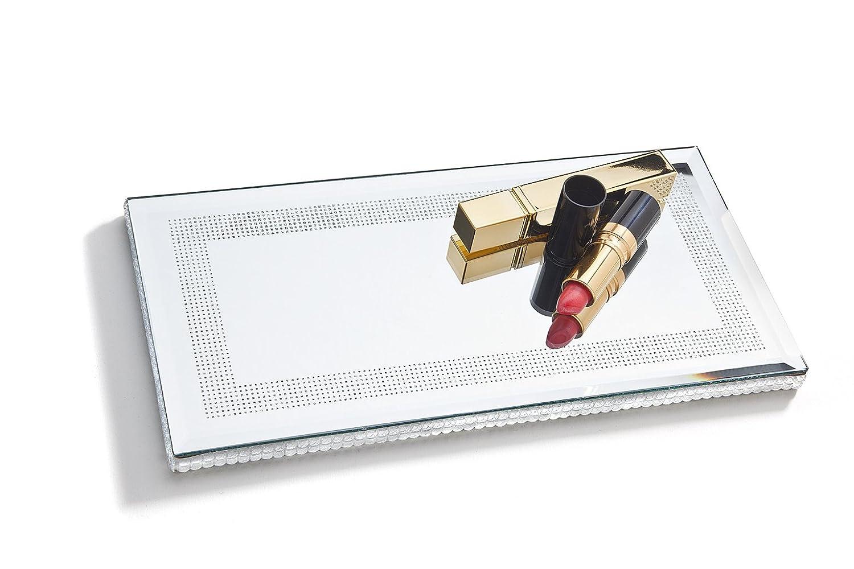 Mirror W Bead Edge 7 X 13 Studio Silversmiths AX-AY-ABHI-58357