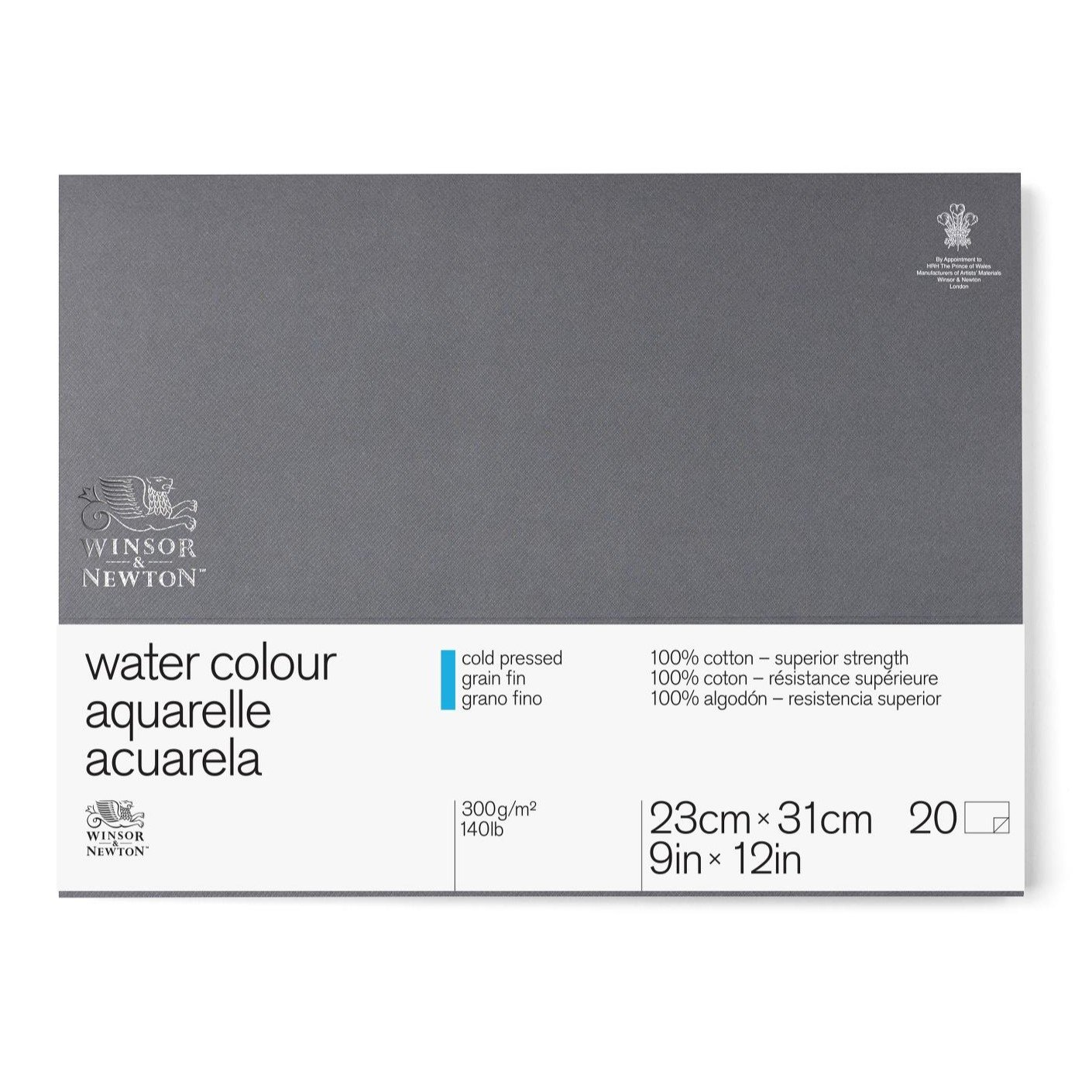 Winsor & Newton Professional Watercolor Paper Block, Cold Pressed 140lb, 9''x12'', White by Winsor & Newton