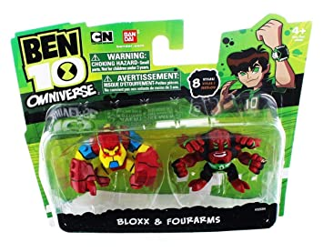 Ben 10 Omniverse 2 Inch Mini Figure 2-Pack Bloxx & Fourarms ...